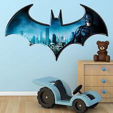 Children 39 s batman bedroom wall decals stickers ebay for Batman wall mural uk