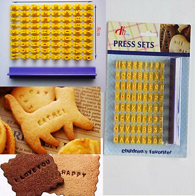 Alphabet Letters Mould Fondant Cookie Biscuit Cake Mold Cutter Press Stamp Tool