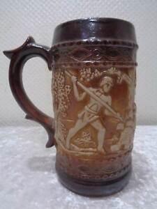 Ceramica-Gres-Porcelanico-Jarra-de-Cerveza-Barentoter-Vintage