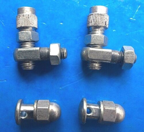 NOS SET OF VINTAGE 1970s WEINMANN SIDE PULL BRAKE CABLE ADJUSTERS /& PINCH BOLTS