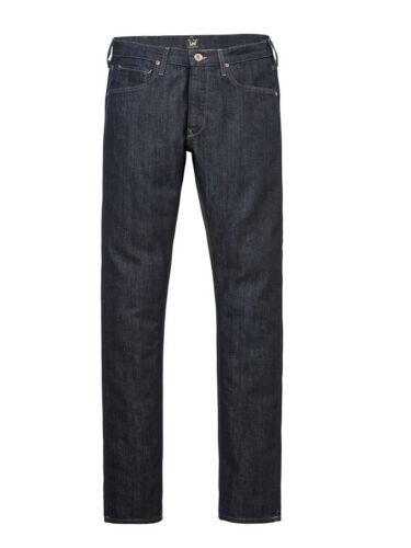 Lee Herren Jeans Rider Slim Fit Denim Stretch Hose Baumwolle Blau Rinse Wash