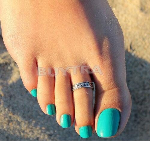 Hot Silver Toe Ring Metall Material Sterling Silber Schmuck Hawaiian BeacheH5