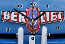 HORLOGE MURALE Logo ANCIEN BERLIET SUR TOLE BLEU -02M