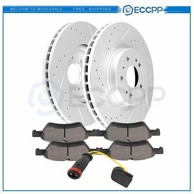 For Mercedes ML550 GL450 Set of Front Vented Disc Brake Rotors Pads Sensor