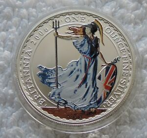 Britannia £2 2006 1 oz SILVER color colored coin Great Britain ounce - Grzedzice, Polska - Britannia £2 2006 1 oz SILVER color colored coin Great Britain ounce - Grzedzice, Polska