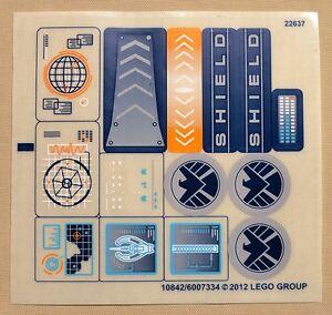 Lego-Super-Heroes-Set-6868-Sticker-Sheet-Hulk-039-s-Helicarrier-Breakout