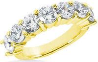 1.75 carat, 7 Diamond Wedding Ring Anniversary Band 14K Yellow Gold G color SI1