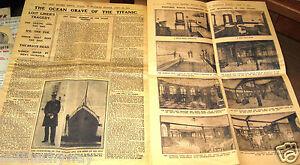 1912-TITANIC-GIORNALI-GIORNO-grafica-vintage-retro-rare-Disaster-RIVISTA-REPORT