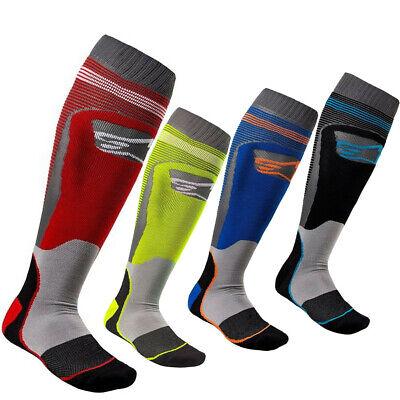 Alpinestars MX Plus2 Mens Off-Road Motorcycle Socks Blue//Cyan//Small//Medium