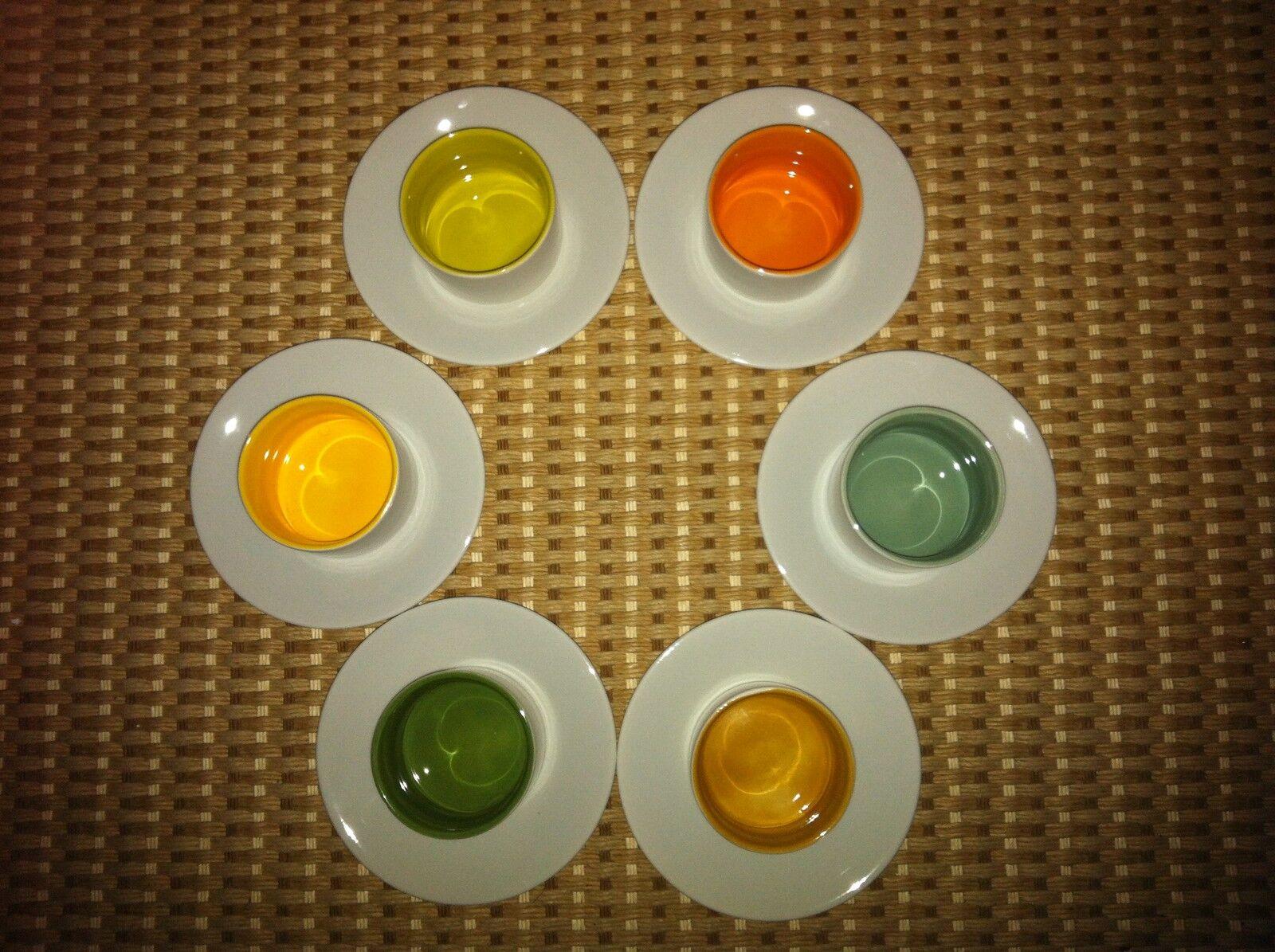 COVO set 6 tazze caffè  6 piattini porcellana
