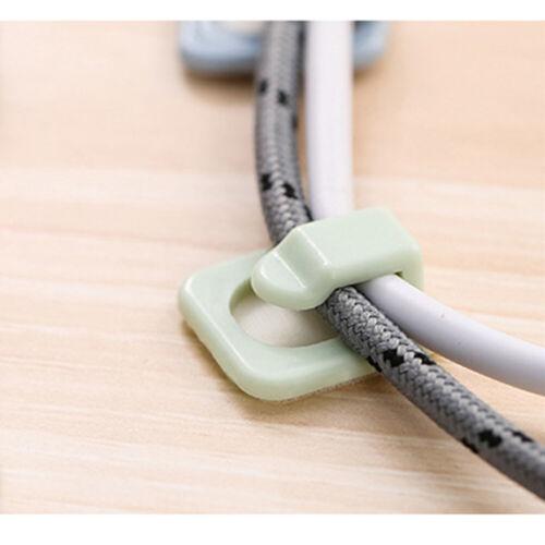 18Pcs Cable Clip Mini Clamp DIY Wire Organizer Self Adhesive Storage Accessories
