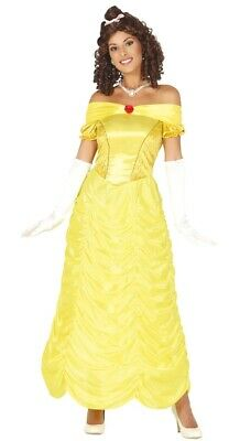 Womens Belle Costume Ladies Fairytale Fancy Dress Outfit Uk Sizes 10/12/14/16