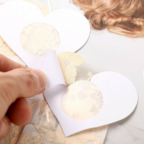10 Pairs Lace Breast Nipple Covers Disposable Pasties Bra Stickers Self-adhesive