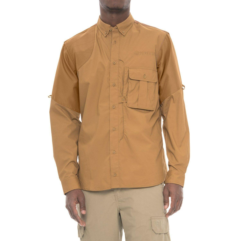 Beretta Mans Uppland Long Sileve Frontload Shirt - Light brun -M - NY