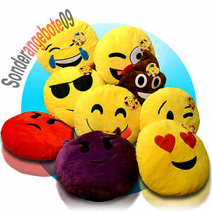 emoticon sofakissen smiley kissen dekokissen stuhlkissen sitzkissen emoji 30 cm ebay. Black Bedroom Furniture Sets. Home Design Ideas