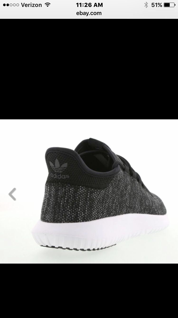 san francisco 6f850 7ef4f ... ADIDAS TUBULAR SHADOW KNIT SIZE SIZE SIZE 9 BLACK WHITE 452471 ...