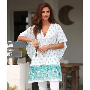 Robe-tunique-imprimee-cordon-a-la-taille-femme-140455