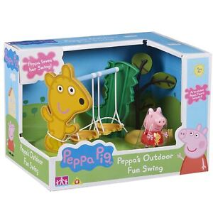 New-Peppa-Pig-Outdoor-Fun-Swing-Playset-amp-Figure-Official-06460