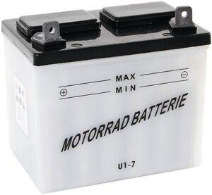 U1-7  Batterie für Rasentraktor & Säure 12V/18Ah +Pol links  f. MTD