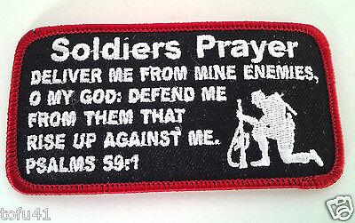 SOLDIERS PRAYER   Military Veteran Biker Patch D