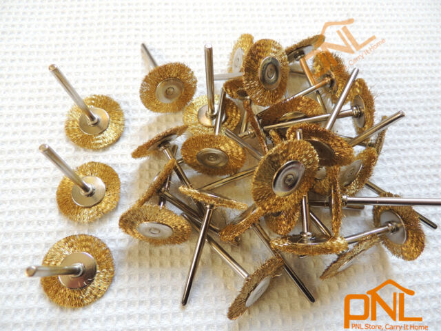 18PC Brass Wire Wheel Brushes Dremel Accessories For Rotary Tools