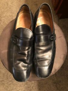 MEN'S GUCCI BLACK LEATHER LOAFERS SHOES