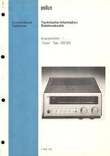 Braun Service Manual für CE 501