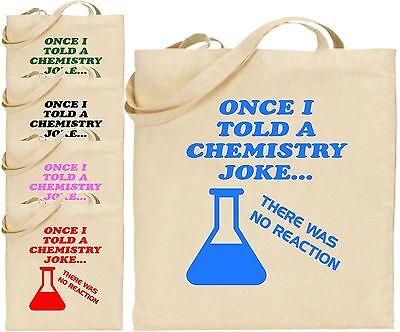 Einmal I Sagte Ein Chemie Witz Groß Baumwoll-tragetasche Einkauf Wissenschaft