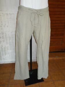 Pantalon-leger-coton-lin-beige-raye-JACK-amp-JONES-L-W32-42FR-18AG13