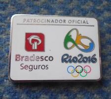 OLYMPIC RIO DE JANEIRO 2016 BRADESCO BANK PARTNER PIN BADGE