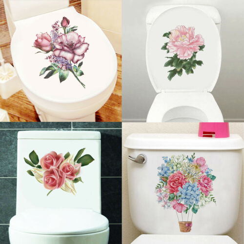 4 PCS Fridge Furniture Ornament Flower Vine Toilet Decals Wall Stickers Home Dec