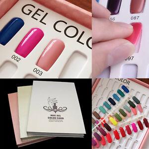 120-Nail-Tip-Colour-Chart-Display-Book-For-UV-LED-Gel-Polish-120X-Nail-Tips-UK