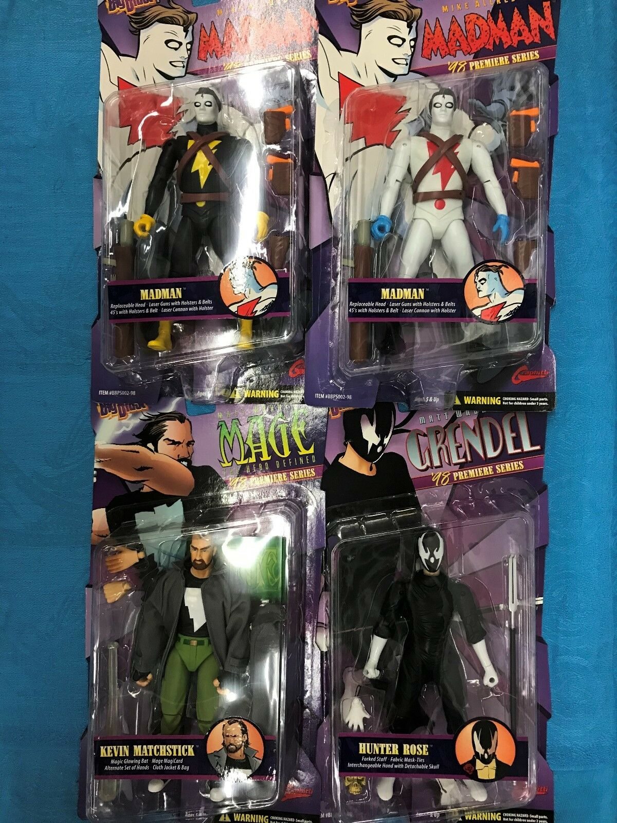 Madman x2 w accessories, Grendel, Mage Action Figure set - Graphitti - Big Blast