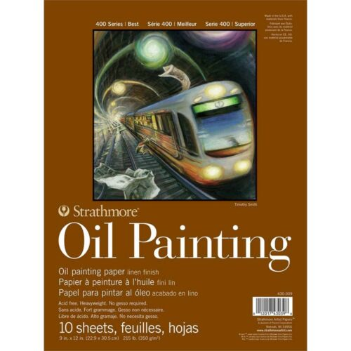 """Strathmore 400 Series Oil Painting Pad 9/""""x12/""""-10 Sheets"""