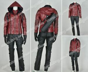 Green Arrow Season 3 Roy Harper Red Cosplay Costumes Jacket Party Comic Suits