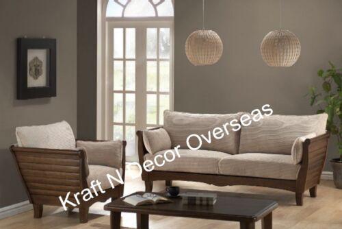 Slat design Wooden Sofa Set 3 + 2 + 1 + Center table !! | eBay