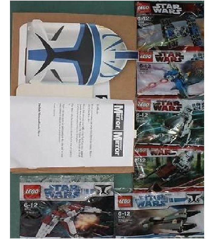 6x LEGO Star Wars Daily Mirror Set mit Karton