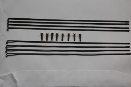 DT Swiss Competition Noir Rayons 248-298 mm Pack de 8 avec 8 LAITON 14 mm Tétons