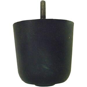 Black Plastic Sofa Chair Loveseat Replacement Leg (1 Set of 4)