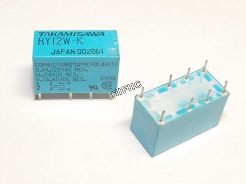 1PCS RY12W-K TAKAMISAWA 12V DPDT Miniature Relay