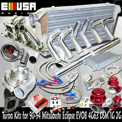 GT35 Turbo Kits for 90-99 Mitsubishi Eclipse GSX/GST Hatchback 2D 4G63 ONLY