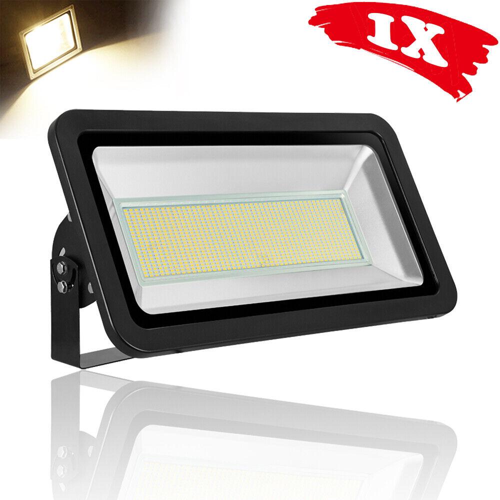 500W LED Fluter Licht Scheinwerfer Baustrahler IP65 Warmweiß Außen Strahler SMD