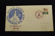 SPACE COVER 1970 HAND CANCEL 10TH MINUTEMAN 3 LAUNCH RE-ENTRY TESTING (1779)