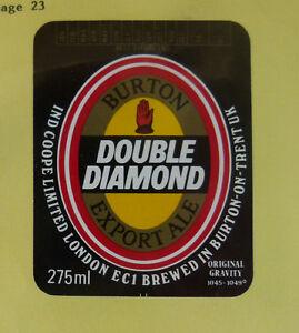 VINTAGE-BRITISH-BEER-LABEL-IND-COOPE-BREWERY-DOUBLE-DIAMOND-EXPORT-ALE-275-ML