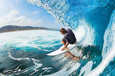 GREAT ART Surfer auf einer Welle Wanddekoration Wandbild Surfen Motiv XXL Poster
