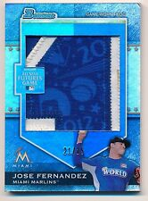 2012 Bowman Draft JOSE FERNANDEZ Futures Game Jumbo 3-color Patch Relic #21/25