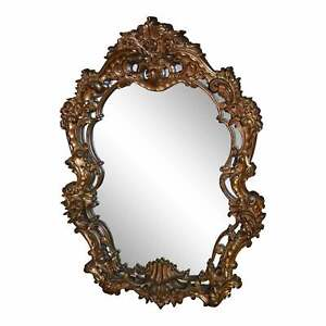 Large Ornate Oval Rococo Style Wall Mirror Ebay