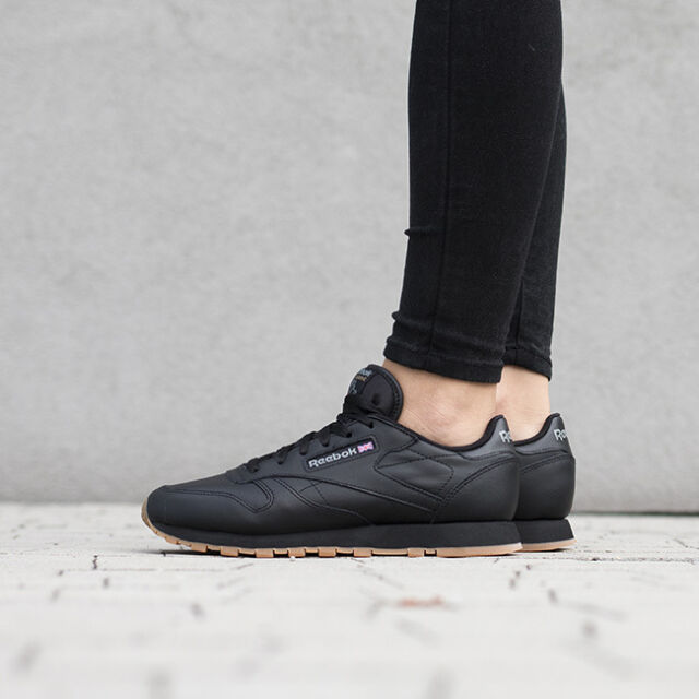 860a3a2030957b Reebok Classic Leather 49804 Black Halfshoes Us9.5  26.5cm for sale ...