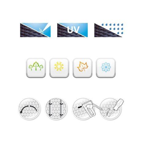 Meterware Balkonblende Sichtschutz Rattan Sichtschutzzaun HaGa® anthrazit 0,9m