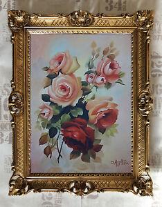 Rosa-Rose-Fiori-REPRO-PRODUZIONE-OPERE-D-039-ARTE-von-CONTEMPORANEO-PITTORI-90x70